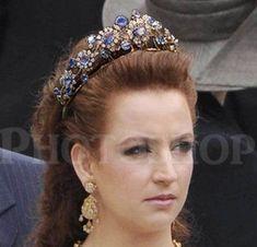 Lalla Salma  with the Barberini Sapphire tiara.