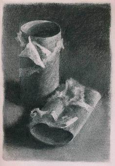 Empty by Jo Bradney - charcoal drawing