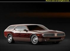 Dodge Concept of a new generation Challenger station wagon.