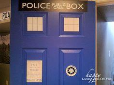 Another painted TARDIS door Tardis Door, Laundry Room, Signage, Nerdy, Garage Doors, Google Search, Frame, Outdoor Decor, Diy