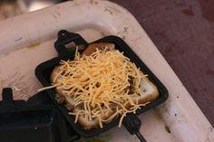 Camping food, via a pie iron
