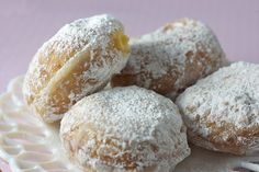 Paczki for All--Donut lke treats with confectioner's sugar. Yummy!