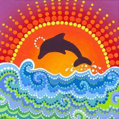 Dolphin joyful playing
