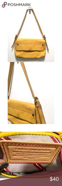 """Tommy Hilfiger Yellow Mini Purse ✨🌼✨ Size • 7"""" Height & 10.5 Across   More details Soon!   New Item posted 2/7/18 💖✨ 👉No Trades Tommy Hilfiger Bags Mini Bags"""