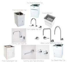 """Laundry Taps and Tubs"" by insideout1 on Polyvore featuring interior, interiors, interior design, home, home decor and interior decorating"