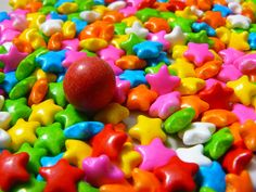 Elisabeta Vlad took this awesome photo that has food, candy in it Color Splash, Sprinkles, Food Photography, Candy, Candles, Candy Bars
