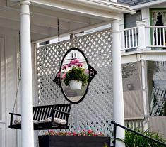 Front Porch, lattice for privacy.