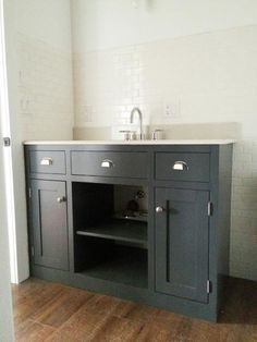 Simple Gray Bath Vanity