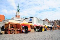 Easter fair on the main square in Poznań