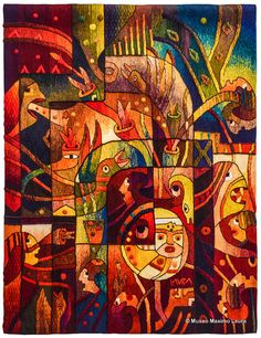 Hand Woven Tapestry by Maximo Laura: Summer Solstice in the