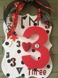 Custom child age sign personalized child's birthday by Bedotted