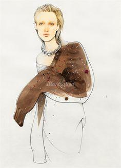 Oversized sweater fashion  illustration by Nuno DaCosta