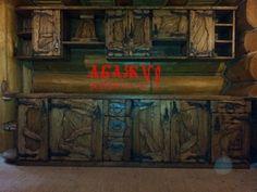 Кухня прямая деревянная от Абажур, есть видео этой кухни на ютубе, за 25тр.метр