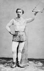 The first trapeze artist and the inventor of the trapeze, Jules Léotard, was just 18 year old in 1859, when he attached cables over his parents's pool and attached a swinging bar to the cables.  He perfected his act and quickly became the toast of European circus performers. The classic trapeze artist's uniform, the leotard, is named after him