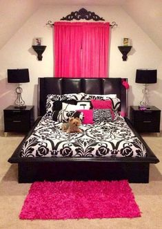 bedroom ^_^ #pinkandblack