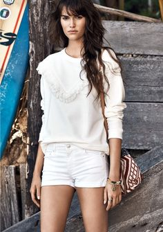 A white sweatshirt is the perfect addition to just about any wardrobe