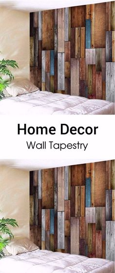 Vintage Wood Texture Decorative Wall Tapestry