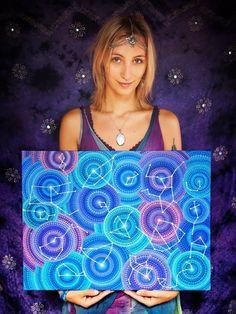 Elspeth McLean painting mandala stones - Blog about Art