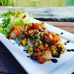 "@tendergreenstopanga: ""#tgtopanga Grilled Shrimp Jasmine Rice Grilled Pineapple Braised Bok Choy Spring Onion Frisée Lemon Vinaigrette #tendergreens #yummy #yummyfood #lunchtime #lunchspecial #dinela #farmtofork #farmtotable"""