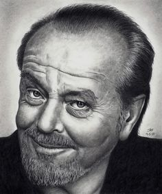Jack Nickelson pencil drawing by Rick Fortson