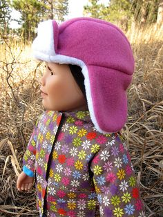 Free pattern to make your doll a Lumberjack hat.