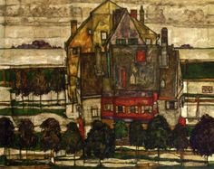 Single Houses 1915 Egon Schiele