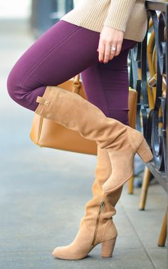 Suede @UGG Aveda Boots + Sweater Outfit perfect for Fall + Winter