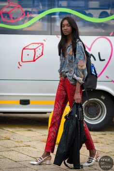 Milan SS 2017 Street Style: Model after Gucci