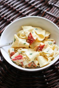Pappardelle with Lobster Mushrooms | @fritesandfries | http://fritesandfries.com/post/126311244587/pappardelle-alfredo-with-lobster-mushrooms