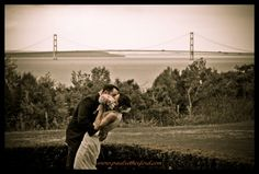 beautiful bridge view on Mackinac Bridge from Inn at Stonecliffe the inn at stonecliffe by paul retherford wedding photography, http://www.paulretherford.com
