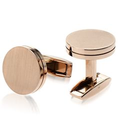 Check out the deal on Rose Gold Satin Capped Cufflinks at Cufflinks Depot