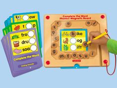 Complete the Word Phonics Magnetic Board: An irresistible, hands-on way to master beginning, middle & ending sounds! #LakeshoreLearning
