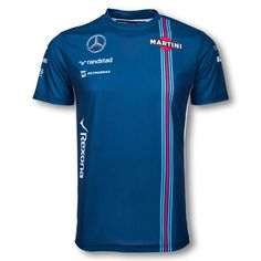 Williams Martini Racing 2016 T-Shirt Martini Racing, Racing Team, Work Shirts, My T Shirt, Formula 1, Mens Fashion, My Style, Mens Tops, Grand Prix