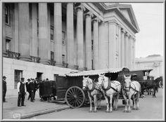 US Treasury currency wagon, Washington, DC 1904