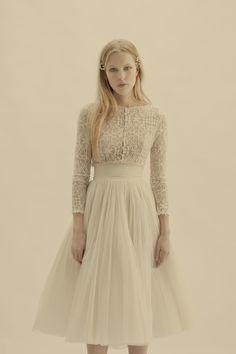 Cortana Bridal Collection - vesta jacket and peonia-skirt #weddingdress #cortana #nattygal