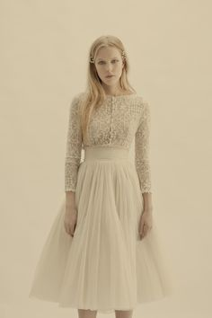 Cortana Bridal Collection - vesta jacket and peonia-skirt #weddingdress #cortana #nattygal