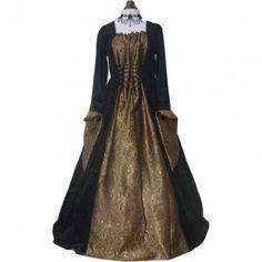 Vestido medieval black gold - D-Gótico http://www.d-gotico.com/vestidos/252-vestido-medieval-black-gold.html