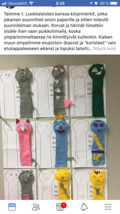 Kirjanmerkki, etupisto Arts And Crafts Projects, Crafts For Kids, Diy Crafts, Sewing Class, Textile Fabrics, Fiber Art, Couture, Weaving, Stitch
