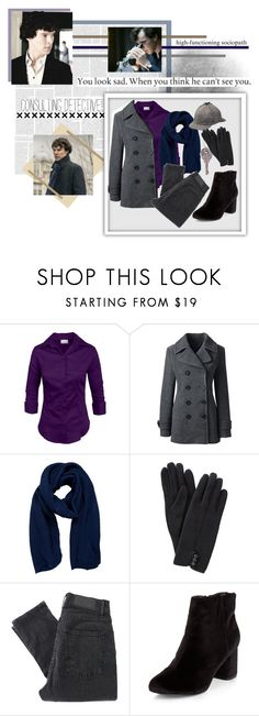 """Sherlock"" by xfandomsneverdie ❤ liked on Polyvore featuring Lands' End, Pieces, John Lewis, Cheap Monday, New Look, GET LOST, sherlock, series4 and sherlockseries4"