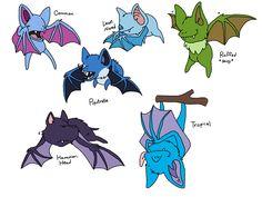Pokemon Variants: Zubat by Critterz11.deviantart.com on @DeviantArt