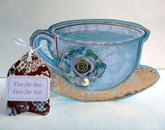 lovely blue rose teacup