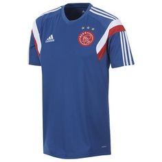 Ajax Training Jersey 2014 - 2015, matches in with the long sleeved training top part of the official Ajax training wear. http://www.soccerbox.com/12403