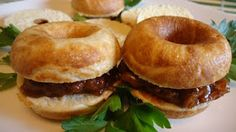 Unique Party Food to Go: Pulled Pork Sandwiches using Babycakes Mini Donut Maker