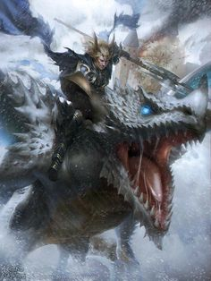 Explore the CLOSED dragons collection - the favourite images chosen by on DeviantArt. Fantasy Dragon, Fantasy Warrior, Dragon Art, Fantasy Art, Fantasy Life, Dnd Dragons, Dungeons And Dragons, Fantasy Creatures, Mythical Creatures