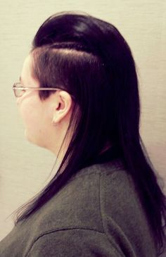 Going bold with shaved sides.