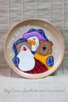 Natale piatto dipinto a mano, by ArtWen, 20,00 € su misshobby.com
