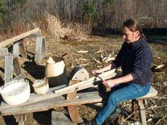 shaving horse - Alice Ogden Basketmaker in New Hampshire her website is www.aliceogden.com
