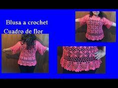 Motivo en crochet para blusa (parte 1) - YouTube