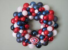 HOUSTON TEXANS Ornament Wreath by dottiegray on Etsy, $59.00