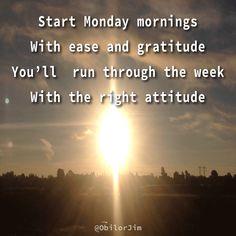 Monday morning start